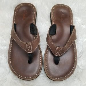 Clarks Leather Thong Sandal